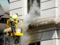 Cleaning the outside of a building