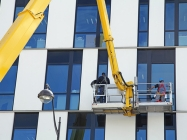 high level window cleaners